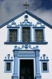 葡萄牙亚速尔群岛Terceira巴洛克式的教会- Angra做Heroismo 库存照片