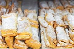 葡萄牙传统酥皮点心 免版税库存照片