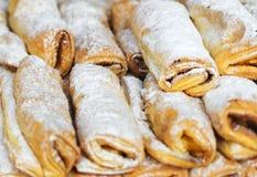 葡萄牙传统酥皮点心 库存照片