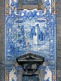 葡萄牙传统宗教瓦片 免版税图库摄影