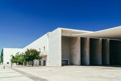 葡萄牙全国亭子在里斯本阿尔瓦斯Siza Vieira 库存照片