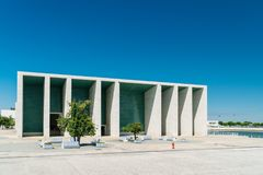 葡萄牙全国亭子在里斯本阿尔瓦斯Siza Vieira 库存图片
