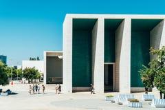 葡萄牙全国亭子在里斯本阿尔瓦斯Siza Vieira 免版税库存照片