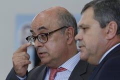 葡萄牙国防部长何塞阿尔贝托Azeredo大步慢跑 库存照片