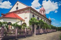 葡萄牙处所的圣克鲁斯教会在曼谷 免版税库存照片