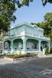 葡萄牙殖民地豪宅在澳门澳门瓷taipa区域  免版税图库摄影