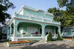葡萄牙殖民地豪宅在澳门澳门瓷taipa区域  图库摄影
