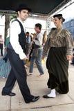 葡萄牙民间传说舞蹈家 库存图片