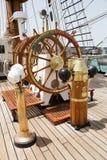 葡萄牙海军训练tallship萨格里什III,普腊亚,佛得角 库存照片