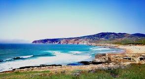 葡萄牙海滩 免版税库存照片