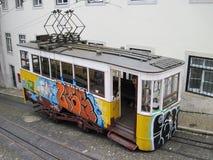 葡萄牙电车轨道 免版税库存图片