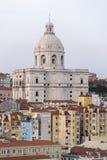 葡萄牙的全国万神殿圣诞老人Engrà ¡ cia教会  免版税库存照片