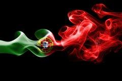 葡萄牙的全国烟旗子 库存照片
