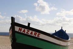 从葡萄牙的典型的fishingboat 免版税库存照片