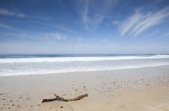 从葡萄牙的海滩风景 免版税库存照片