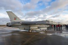 葡萄牙空军队F-16战斗机飞机 库存图片