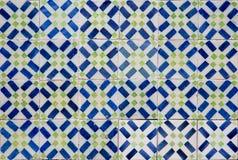 葡萄牙装饰瓦片azulejos 免版税图库摄影