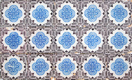 葡萄牙装饰瓦片azulejos 免版税库存图片
