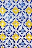 葡萄牙语铺磁砖azulejos 免版税图库摄影