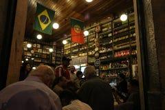 葡萄牙语建立的传统酒吧是Carioca文化的一部分 免版税图库摄影