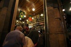 葡萄牙语建立的传统酒吧是Carioca文化的一部分 免版税库存图片