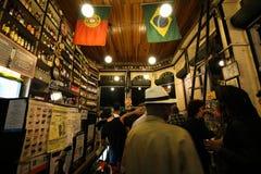 葡萄牙语建立的传统酒吧是Carioca文化的一部分 免版税库存照片
