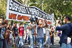 葡萄牙里斯本示范抗议危机 库存照片