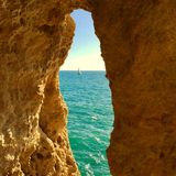 葡萄牙阿尔加威海岸 免版税库存图片
