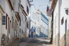 葡萄牙阿尔加威SALEMA老镇 免版税库存图片