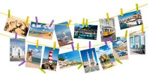 从葡萄牙,拼贴画的旅行图片 免版税库存图片