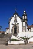 葡萄牙,米尼奥省地区,维亚纳堡,我们的哀痛18世纪巴洛克式的教会的夫人教堂  免版税库存照片