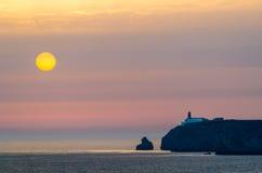 葡萄牙,阿尔加威,钦琼特佩克火山海角, Cabo de圣V 免版税库存图片