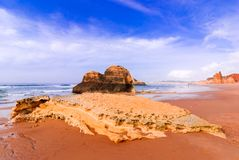 葡萄牙,阿尔加威-普腊亚da Rocha 免版税库存图片