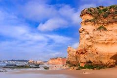 葡萄牙,阿尔加威-普腊亚da Rocha 免版税图库摄影