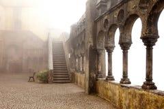 葡萄牙,贝纳宫殿,辛特拉, Ferdina王子皇家住所  免版税库存照片