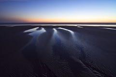 葡萄牙:在黄昏期间的海滩 图库摄影
