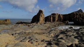 葡萄牙-圣港-岩石海滩 影视素材