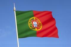 葡萄牙-欧洲旗子  库存图片
