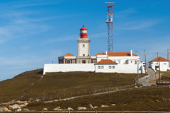 葡萄牙 灯塔 Cabo da Roca 库存照片