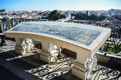 葡萄牙 老镇里斯本的全景从Miradouro S的 免版税库存照片