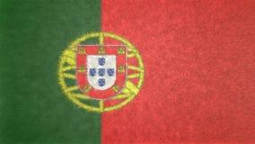 葡萄牙3D的原始的旗子图象 免版税库存照片
