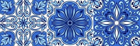 葡萄牙azulejo陶瓷砖样式 皇族释放例证