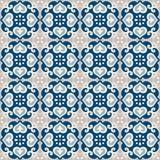 葡萄牙azulejos瓦片的无缝的样式 库存照片