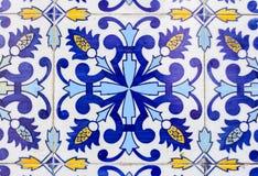 葡萄牙azulejos瓦片 免版税库存图片
