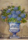 从葡萄牙Azulejos的陶瓷砖样式 免版税库存图片