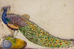从葡萄牙Azulejos的陶瓷砖样式 免版税库存照片
