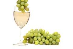 葡萄白葡萄酒 库存图片