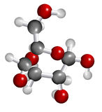 葡萄糖分子结构 免版税库存照片