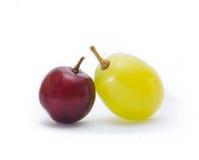 葡萄绿色红色 免版税库存照片