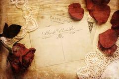 葡萄酒一张古色古香的明信片的样式图片 库存照片